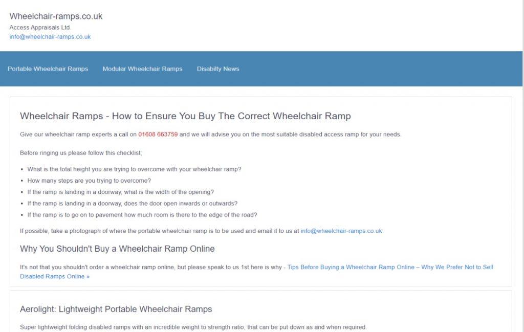 wheelchair ramp website